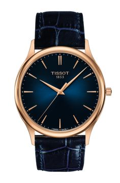 These Tissot Excellence 18K Gold watches are designed to be thin, simple, and elegant.