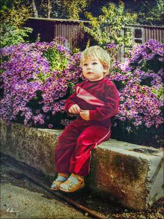 My Son in Granny's Garden when he was 15 months !  -  Photoby Hanny Heim…
