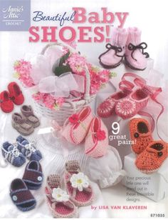 These 9 cute little crocheted baby shoes will look adorable on the precious little feet of your favorite newborn.You'll find styles for boys and girls ranging from casual tennis shoes, daisy sandals and work boots to dressy Mary Jane's, Ki