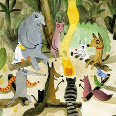 Picturebook Makers | Bernardo P. Carvalho Frightened Rabbit, Lion Book, White Bunnies, That One Friend, Animal Party, Pretty Cool, Book Design, Painting & Drawing