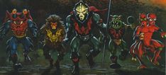 MASTERS of the UNIVERSE - Hordak and the Evil Horde! Painting by: Earl Norem.