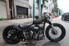 Beautiful Harley Davidson Panhead Bobber