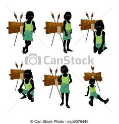 Beach Boy Silhouette Illustration Great for scrapping