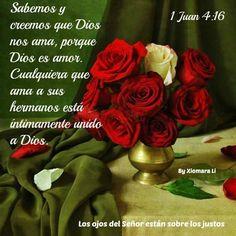 Los ojos del Señor están sobre los justos...1 Juan 4:16
