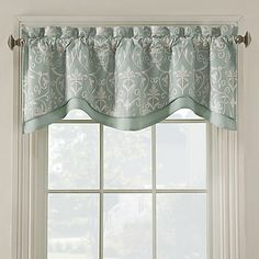 Add luxury to any room with the Salisbury window valance. Beautifully embroidered with a richly hued background, this handsome valance will bring a sophisticated look to your window.