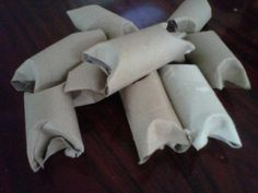 Fire Starter: dryer lint stuffed inside a toilet paper tube (add sage to deter bugs)