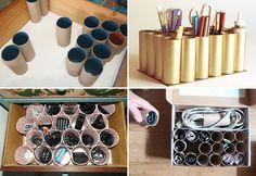 Como organizar gavetas reciclando materiais - Casinha Arrumada