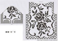5591840_Albom_3_Fileinaya_roza_15 (700x498, 260Kb) Crochet Doilies, Crochet Top, Filet Crochet Charts, Rubrics, Knitting, Handmade, Gloves, Necklaces, Curtains