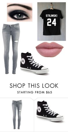 """""""stilinski outfit"""" by taylor-ross115 on Polyvore featuring Dondup and Converse"""