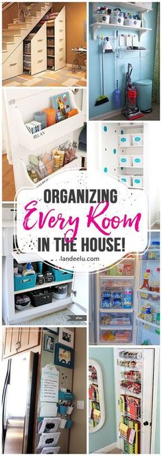 So many pretty and inexpensive ways to organize your entire home! Ideas for every room in the house. Check off that to do list easily! #ot