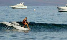 Longboarding Lahaina Harbor