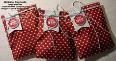 Handmade treat bags using Stampin' Up! Starburst Sayings Set.