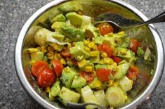ensalada de aguacate con palmito Guacamole, Potato Salad, Potatoes, Snacks, Rica Rica, Salads, Ethnic Recipes, How To Make, Food