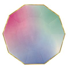Ombre Plates Large The perfect addition for a Pastel Ombre Unicorn Themed Birthday Party