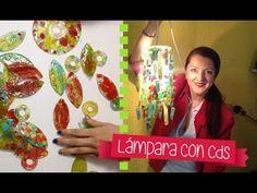 Crea una Lámpara hermosa estilo murano con Cds, es muy fácil y se ve espectacular Síguenos en nuestras redes sociales ★ ✩ www.facebook.com/Chuladascreativas ...