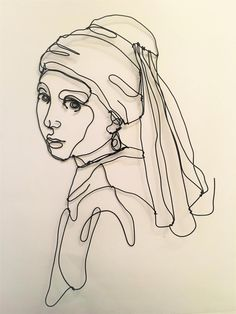 Johannes Vermeer, Inspiration Art, Art Inspo, Matisse Tattoo, Arte Van Gogh, Aesthetic Drawing, Flash Art, Wire Art, Wall Sculptures