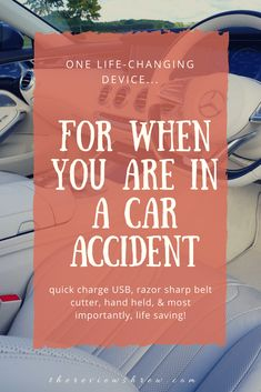 The One Tool Everyone Should Have in Their Car. It could save your life. Car safety. Car tools. TheReviewShrew.com #safetyfirst #safety #productreview Life Car, One Life, Happy Family, Family Life, Mom Survival Kit, Development Milestones, Healthy Kids, Healthy Living, Car Tools