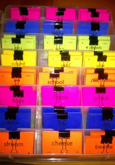 The Sweet Life of Third Grade Blog - Words Their Way Word Sorts (scroll down to Monday, August 8, 2011, Organizing Word Sorts)