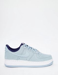 Image 2 of Nike Air Force 1'07 Light Gray Suede Sneakers