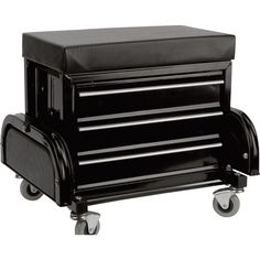 This Performance Tool Mechanic's Stool with Drawers has a padded seat that provides a comfortable place to sit during repairs. Includes 3 storage drawers and 2 magnetic trays to hold tools and spare parts. Home Workshop, Garage Workshop, Stools With Drawers, Garage Tools, Garage Ideas, Car Garage, Shop Storage, Storage Drawers, Workshop Organization