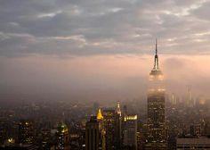 New York City fog, #travel, #skyline, #fog