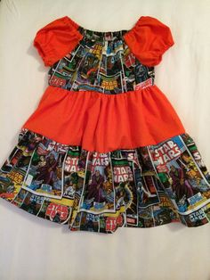 Comic book/scifi/nerdy/geeky girl's dress.  by TheNerdyPrincess