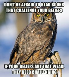 Challenge everything, specially your beliefs...