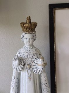 Antique french nordic style Infant of Prague