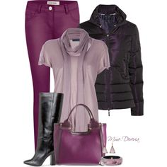 """""""Colored denim #2"""" by madamedeveria on Polyvore"""
