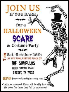 Halloween party invitation wording halloween invitation wording halloween party invitation template by crafty in crosby stopboris Image collections