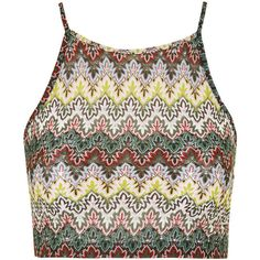 TOPSHOP PETITE EXCLUSIVE Crochet Crop Top (1,715 INR) ❤ liked on Polyvore featuring tops, crop tops, shirts, tank tops, multi, petite, crop shirts, topshop, shirts & tops and colorful shirts