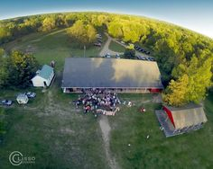 Aerial Wedding Pic