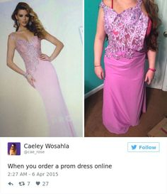 dd8ebbbfe6 Ordering a dress online can lead to devastating consequences. Here is a  selection of some of the best internet prom dress fails out ...