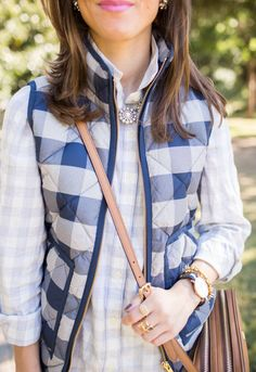 This is a great vest! I already have one in navy, but I loved how they mixed patterns here