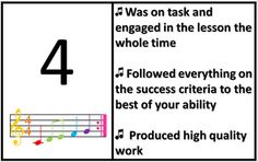 Are You on Target with Your Effort? Music Rubric - This works perfectly in our new report cards!