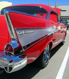 1957 Chevrolet Belair 2 door hardtop. http://www.examiner.com/article/school-is-cool-at-aims-automotive-and-technology-center