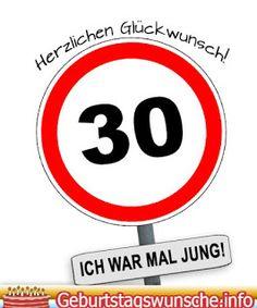 Lustige Sprüche und schöne Glückwünsche zum 30. Geburtstag ...