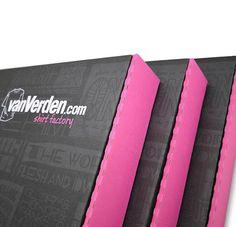 Showcase Kundendesigns: Versandboxen von der Shirt Factory vanVerden  #GetYourBoxPrinted #fashion #tshirt #packagedesign