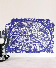 Paris Paper Cut Map