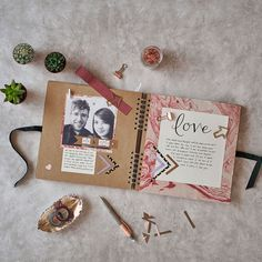 A love themed scrapbooking layout - which layout will you go for? Book a class today to learn new ways of scrapbooking organisation! Workshops available in London, Manchester & Glasgow