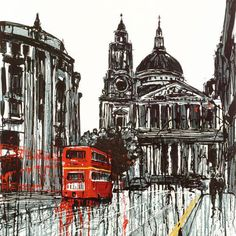 A signed limited edition boxed canvas of 150 by contemporary cityscape artist, Paul Kenton entitled Routemaster Paul Kenton, A Level Art Sketchbook, Sense Of Place, Gcse Art, Architectural Features, London Art, Built Environment, Urban Landscape, Landscape Artwork