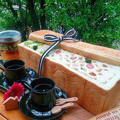 夢だった#パンシュープリーズ 実現できました(*≧∀≦*) ありがとう☆ #3斤パン #サンドイッチ