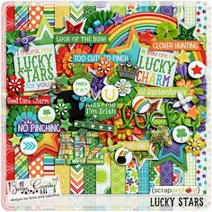 Lucky Stars by Bella Gypsy Designs!  This is just one portion of the entire Lucky Stars collection that Bella Gypsy has created! You can purchase items individually or purchase one of their bundled sets and you'll save! #digitalscrapbooking #digiscrap #bellagypsydesigns