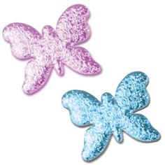 """Foam Board Butterflies for Centerpieces. Small butterfly is 6"""" tall and can be ordered in 18 cracked ice colors. http://www.awesomeevent.com/6-Butterfly-P5150.aspx"""