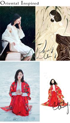 Nancy Zhang's Oriental inspired fashion illustrations