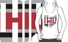RecklessWear - Lines (grey, black and red) t-shirt. #GoBucks