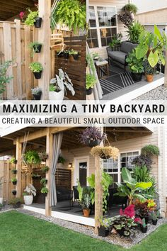 My tiny backyard updates this summer, including tons of small townhouse patio ideas, ideas for tropical plants to create privacy, and ideas for gardening in a small backyard. Backyard patio ideas Small Townhouse Patio Ideas: My Tiny Backyard This Summer Small Backyard Design, Small Backyard Gardens, Backyard Patio Designs, Small Backyard Landscaping, Landscaping Ideas, Garden Design, Tiny Garden Ideas Patio, Very Small Garden Ideas, Patio Yard Ideas