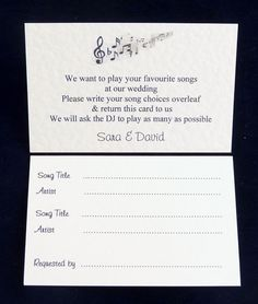 50 Wedding/Party DJ Favourite Song/ Record by DazzlingHandmadeCard