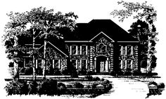 Colonial House Plan with 4583 Square Feet and 4 Bedrooms(s) from Dream Home Source | House Plan Code DHSW10255