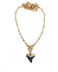 Black Shark Tooth Rosary